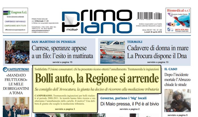La Regione si arrende sulla prescrizione delle ingiunzioni Bolli Auto